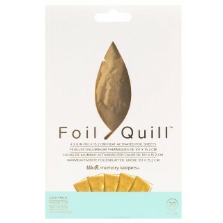 Folha Foil Quill Ouro - We R Memory Keepers - 10x15cm - 30 Folhas