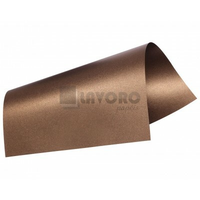 Papel Curious Metallics - Chocolate 300g 30,5x30,5 - 06 Folhas
