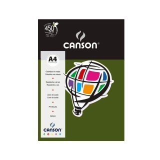Papel Canson Color - Verde Safari A4 180g (10 folhas)