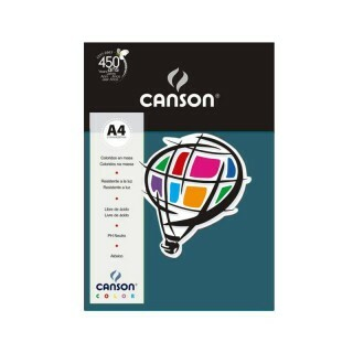 Papel Canson Color - Mar do Caribe A4 180g (10 folhas)