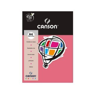 Papel Canson Color - Rosa Chiclete A4 180g (10 folhas)