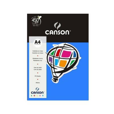 Papel Canson Color - Azul Royal A4 180g (10 folhas)