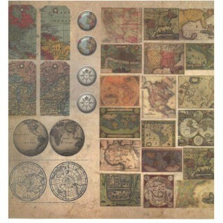 Papel Vintage 5 - Art Unica - 30,5x30,5