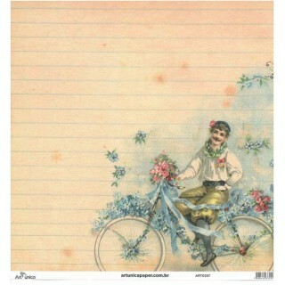 Papel Vintage 4 - Art Unica - 30,5x30,5