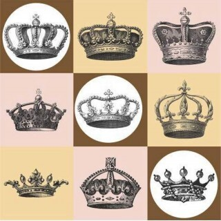 Papel Crowns - Art Unica - 30,5x30,5