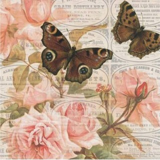 Papel Birds and Butterflies - Art Unica - 30,5x30,5