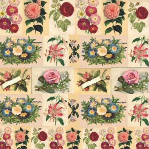 Papel Vintage Flowers - Art Unica - 30,5x30,5