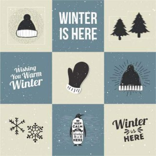 Papel Winter Day - Art Unica - 30,5x30,5