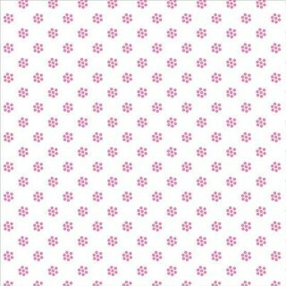 Papel Flor Rosa/Branco - Art Unica - 30,5x30,5