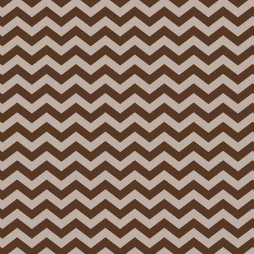 Papel Chevron Marrom - Art Unica - 30,5x30,5