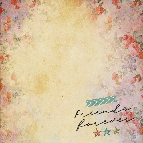 Papel Frinds Forever - Art Unica - 30,5x30,5