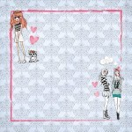 Papel Sweet Friends - Art Unica - 30,5x30,5