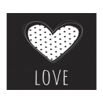 Plaquinha MDF - Love2 - 25x25 cm - Art Unica