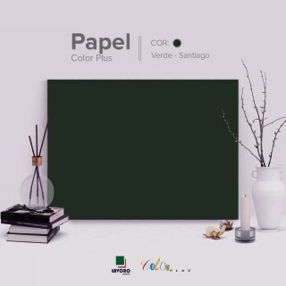 Papel Color Plus - Verde Musgo (Santiago) - 180g 30,5x30,5 - 30 Folhas