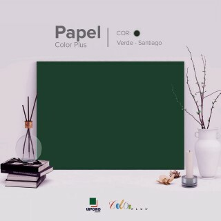 Papel Color Plus - Verde Musgo (Santiago) - 180g A4 - 25 Folhas