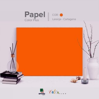 Papel Color Plus - Tangerina (Cartagena) - 180g A4 - 27 Folhas