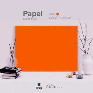 Papel Color Plus 180g 30x60 - Tangerina (Cartagena) - 21 Folhas