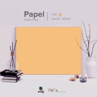 Papel Color Plus 180g 30,5x30,5 - Salmão (Madrid) - 30 Folhas
