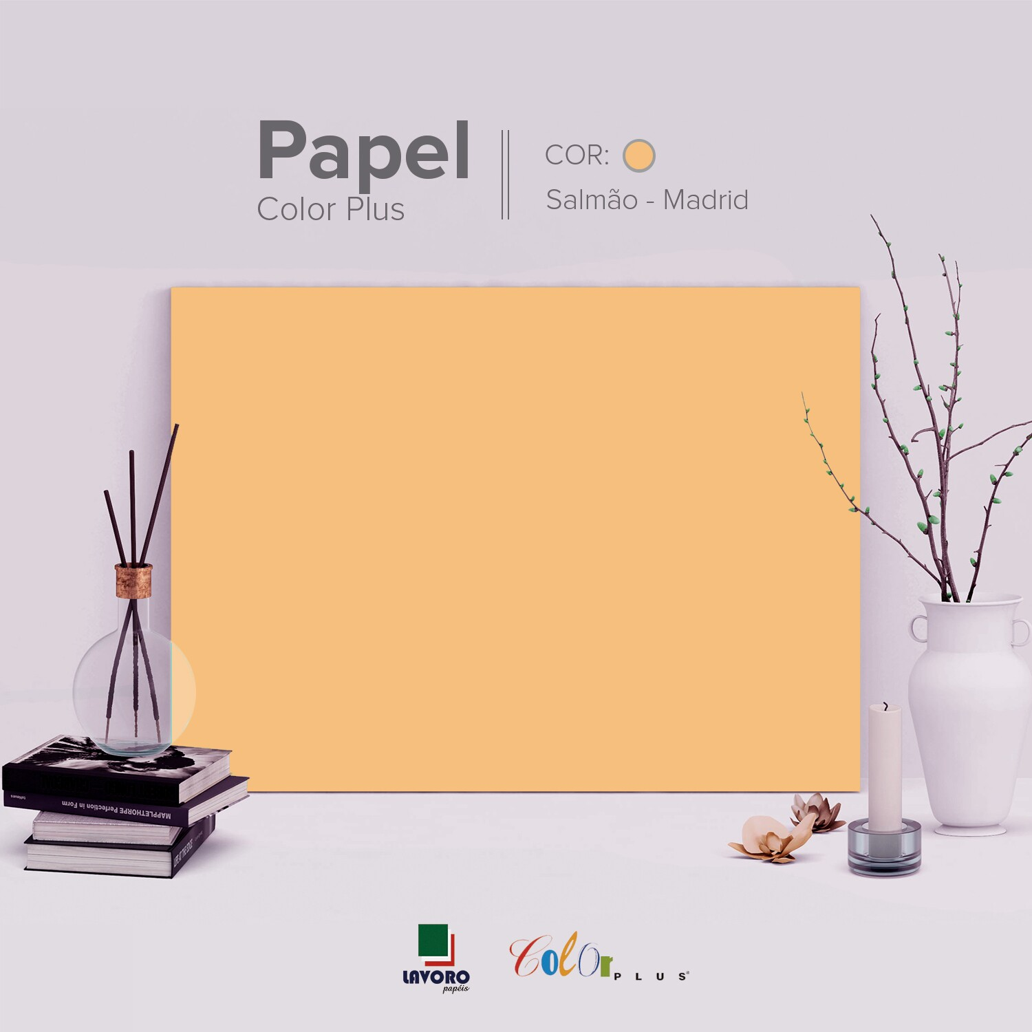 Papel Color Plus - Salmão (Madrid) - 180g A3 - 28 Folhas
