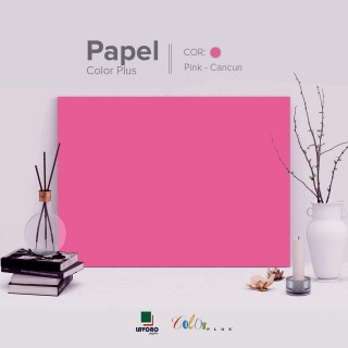 Papel Color Plus 180g 30x60 - Rosa Pink (Cancun) - 21 Folhas