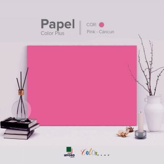 Papel Color Plus - Rosa Pink (Cancun) - 180g A4 - 25 Folhas