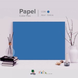 Papel Color Plus 180g 30x60 - Azul Royal (Grécia) - 21 Folhas