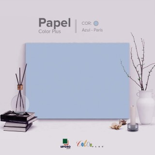 Papel Color Plus 180g 30,5x30,5 - Azul Claro (Paris) - 30 Folhas