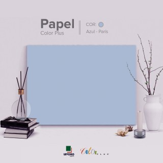 Papel Color Plus - Azul Claro (Paris) - 180g 30x60 - 21 Folhas