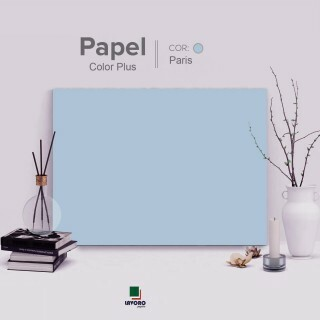 Papel Color Plus - Azul Claro (Paris) - 180g A3 - 28 Folhas