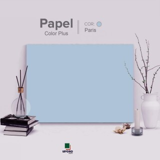 Papel Color Plus - Azul Claro (Paris) - 180g A4 - 25 Folhas