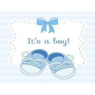 Plaquinha MDF - Its a Boy - 20X20 cm - Art Unica