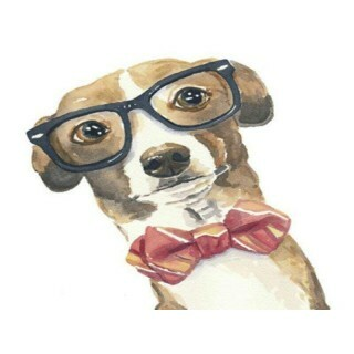 Plaquinha MDF - Dog Intelectual - 20X20 cm - Art Unica