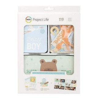 Kit Project Life - Lullaby Boy c/ 119 unidades