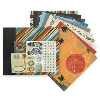 Kit Álbum Tahiti Beach - 30,5x30,5cm álbum + 20 páginas + Stickers