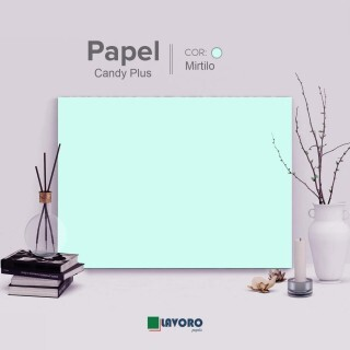 Papel Candy Plus 180g A4 - Mirtilo - 27 Folhas