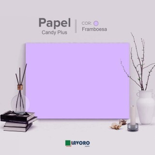 Papel Candy Plus - Framboesa - 180g A4 - 27 Folhas