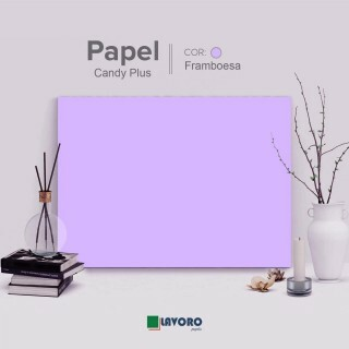 Papel Candy Plus 180g A4 - Framboesa - 27 Folhas