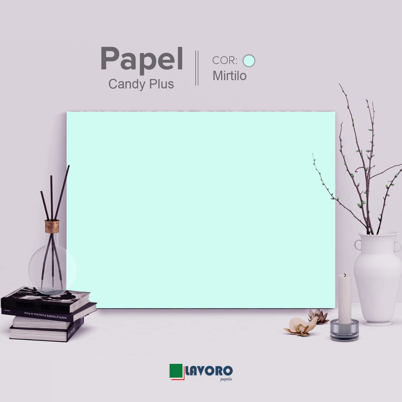 Papel Candy Plus 180g 30x60 - Mirtilo - 21 Folhas