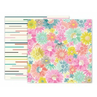 Papel Turn The Page 02 - Pink Paislee - 30,5x30,5