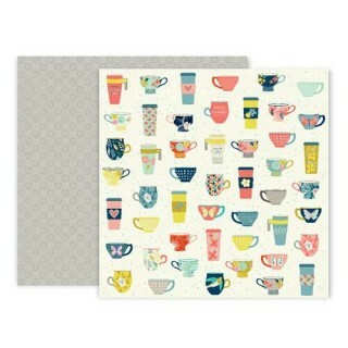 Papel Turn The Page 07 - Pink Paislee - 30,5x30,5