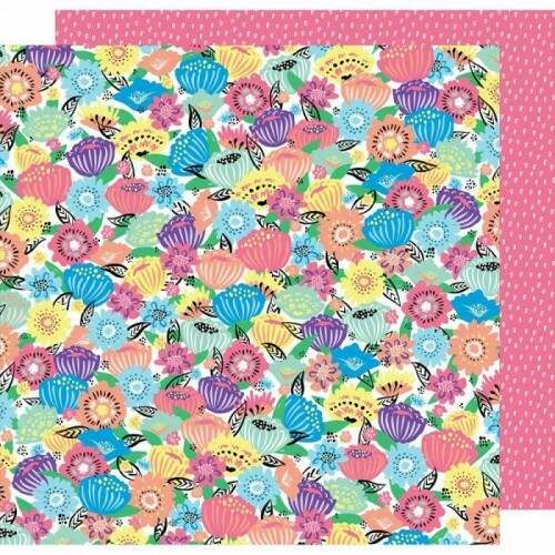 Papel Flower Power - Sunshine & Good Times - American Crafts