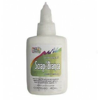 Scrap Cola Branca 40ML - Linha Ateliê - True Color