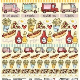 Papel Hot Dog & Pizza - Kitchen & Co Collection - Goodies - 30,5x30,5
