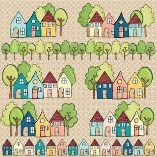Papel Casinhas - Love This - Goodies - 30,5x30,5