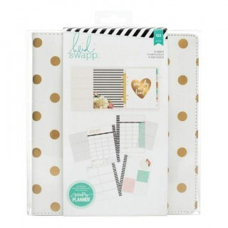 Planner Large - Memory Planner - Gold Foil Dots - Heidi Swapp -