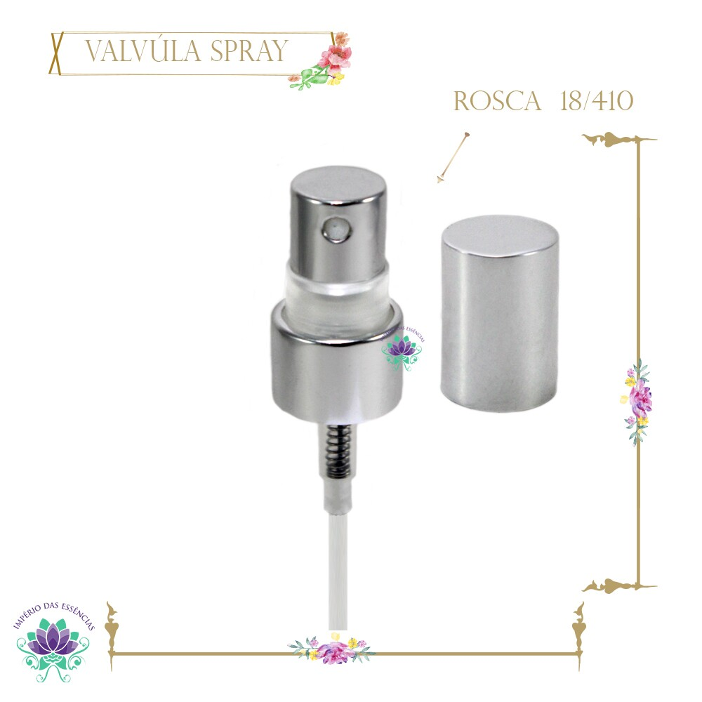 Válvula Spray Prata e Natural Prime Rosca 18/410 (1un)
