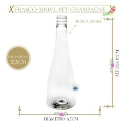 Frasco 300ml Pet Champagne sem Tampa Rosca 24/415 (1un)