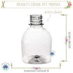 Frasco 220ml Pet Prisma Sem Tampa Rosca 28/410 (1un)