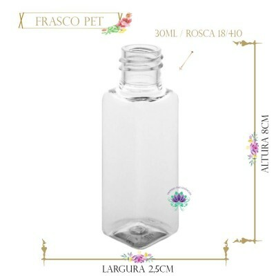 Frasco 30ml Pet Retangular sem Tampa Rosca 18/410 (1un)