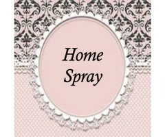 Etiqueta Home Spray Rosa e Preto (20un)